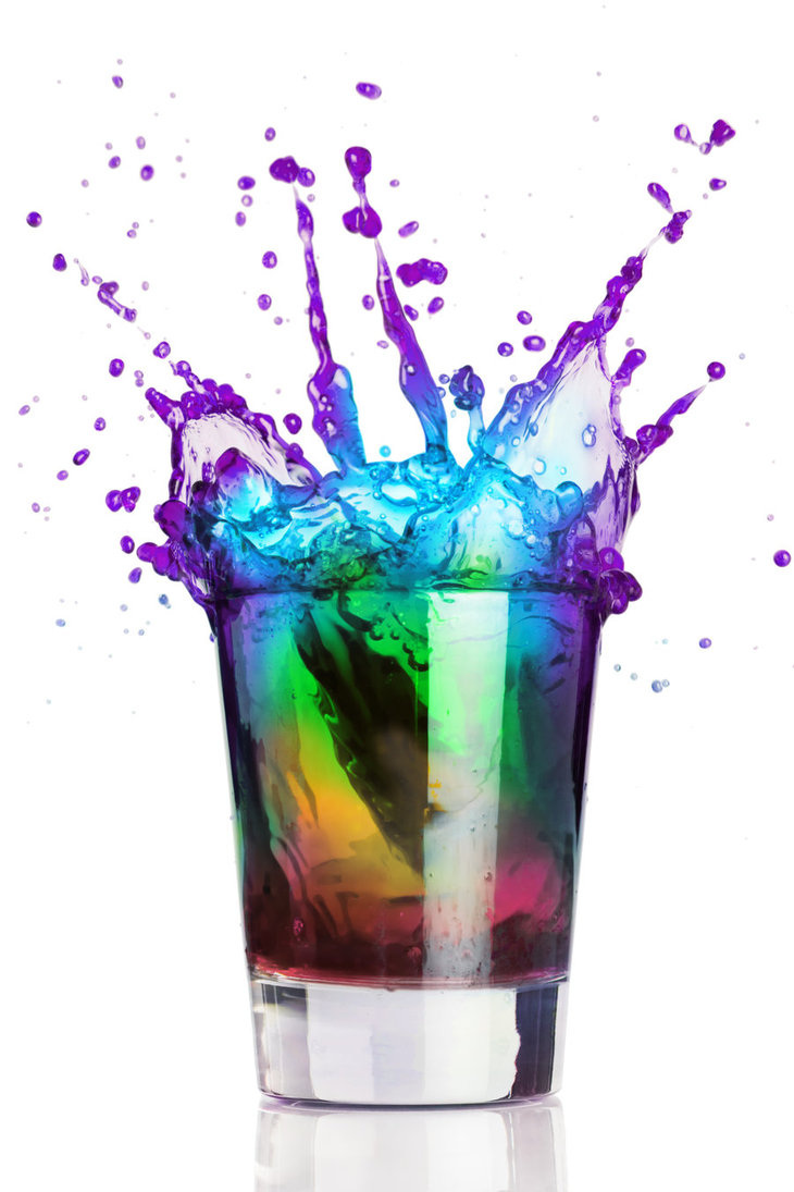 rainbow in a glass two by ratbagdesign